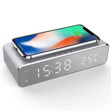 שעון מעורר דיגטלי + מדחום + מטען אלחוטי משולב רק ב10.99$!