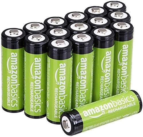 """לחטוף! 16 סוללות נטענות 2000mAh AA של AmazonBasics רק ב70.5 ש""""ח!"""