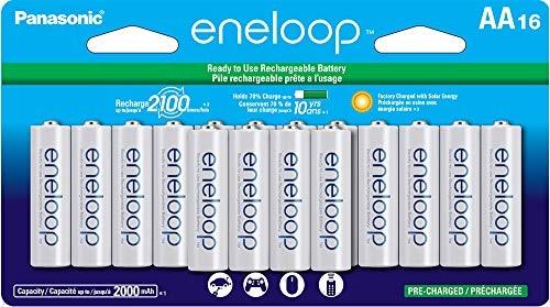 מארז 16 סוללות Panasonic eneloop AA 2100 ב$28.38