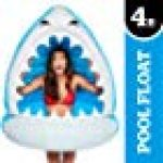 BigMouth Inc. Giant Man-Eating Shark Pool Float –Gigantic 4 Foot Pool Float, Funny Inflatable Vinyl Summer Pool or Beach Toy, Patch Kit Included