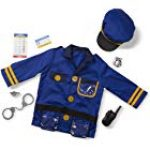 Melissa & Doug 96019 Police Officer Role Play Set, Ages 3-6 Years, Multicolor