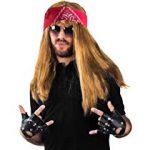 Rockstar Costume - 3 Pc Set - 80s Costumes - Heavy Metal Wig - Rocker Accessories