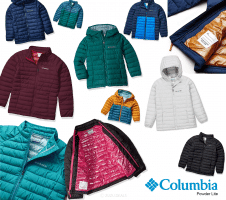 Columbia Powder Lite   מעיל מבודד לפעוטות, ילדים ונוער – מגוון צבעים רק ב₪172 – ₪73!