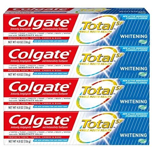 Colgate Total | מארז 4 משחות שיניים קולגייט טוטאל הלבנה ב₪21 בלבד!