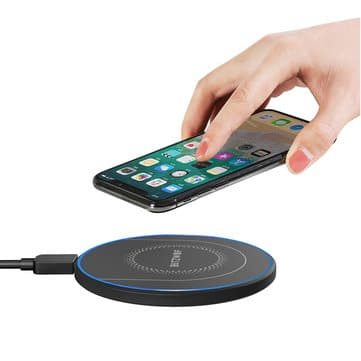 BlitzWolf® BW-FWC7 Qi Fast Wireless Charger 15W 10W 7.5W 5W for iPhone 11 Pro XS MAX XR S9 Note 9 Chargers & Cables from Mobile Phones & Accessories on