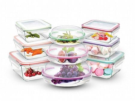 סט 9 כלי אחסון מזכוכית עם מכסה Food Appeal Glass Cloc ב₪129 בלבד!