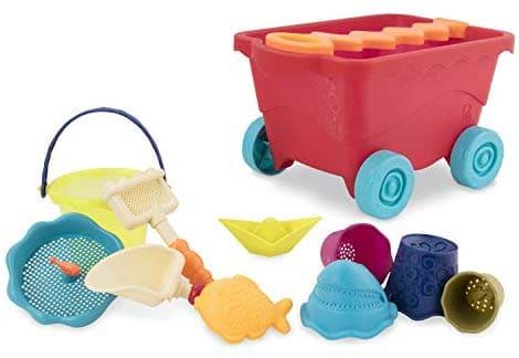 ארמונות בחול! סט כלי משחק בחול/מים כולל עגלה! ב₪34 בלבד!