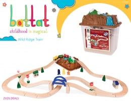 טווו טווו! מסלול רכבת מיוחד מעץ (47 חלקים) מבית בטאט ב₪57 בלבד!