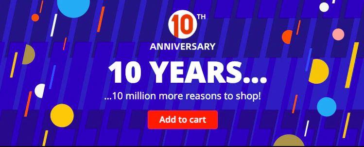 סייל 10 שנים לאליאקספרס!