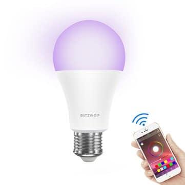 BlitzWolf® BW-LT21 RGBW 10W – מנורה חכמה של בליצוולף! 900 לומן וכל צבעי הקשת, תמיכה באמזון אלקסה, גוגל ועוד רק ב9.99$!