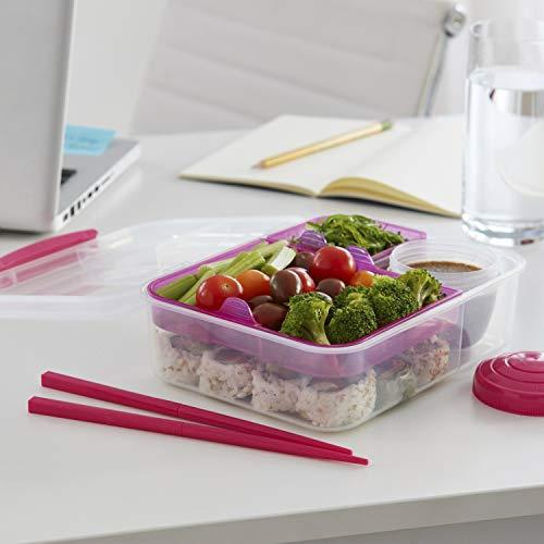 על הדרך – Sistema To Go Bento Box – קופסאת אוכל עם הפרדה – רק 6.79$!
