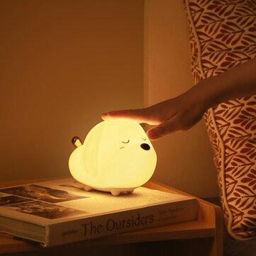 מנורת לילה חמודה בצורת כלבלב עם RGB! רק ב12.99$!