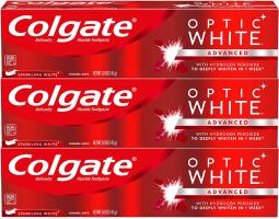 3 במחיר של 1 בארץ! מארז משחות שיניים OPTIC WHITE של קולגייט רק ב8.99$!
