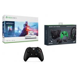 באנדל Xbox בלעדי! XBOX ONE S 1TB + משחק + שלט נוסף + עמדת טעינה + אוזניות גיימינג + סוללות + כיסויים במחיר מעולה!
