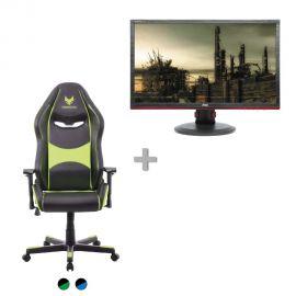 """בלעדי! באנדל כיסא גיימרים SPARKFOX ומסך גיימינג AOC 144Hz r ב1649 ש""""ח!"""