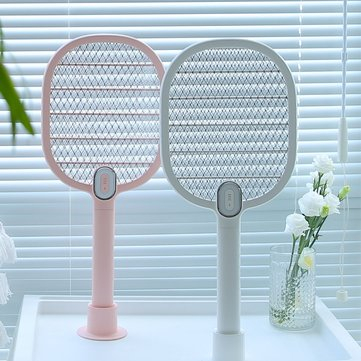 Electric Mosquito Swatter Mosquito Dispeller Rechargeable LED Electric Insect Bug Fly Mosquito Killer Racket 3-Layer Net Gardening from Home and Garden on