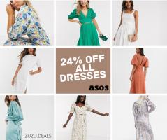 קופון 24% הנחה על כל השמלות בASOS עד מחר בבוקר! הנה 10 שמלות מנצחות לקיץ!