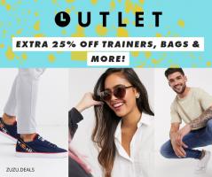 כפל הנחות! קופון 25% אקסטרה הנחה על אקססוריז, נעליים, משקפי שמש ועוד… במחלקת האאוטלט בASOS!