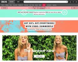 חוגגים קיץ בASOS! 20% על כל האתר!!!