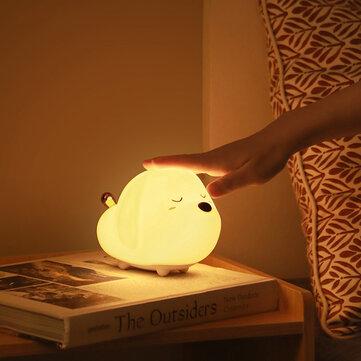 מנורת לילה חמודה בצורת כלבלב עם RGB! רק ב13.99$!