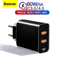 מטען מהיר! Baseus 60w Quick Charge 4.0 /3.0/ PD רק ב19.76$