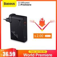 מטען קיר מהיר Baseus GaN 45W PD משולב סוללה 10000mAh! רק ב33.19$!