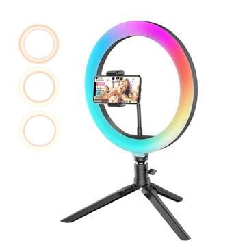 BlitzWolf® BW-SL5 – תאורת סלפי RGB ב$35.99