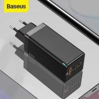המטען המהיר הכי משתלם ברשת! Baseus 65W GaN Charger – מטען Quick Charge 4.0 וUSB-C PD 65W +כבל USB-C 100W רק ב $23.94!!!