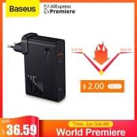 מטען קיר מהיר Baseus GaN 45W PD משולב סוללה 10000mAh! רק ב$32.59!