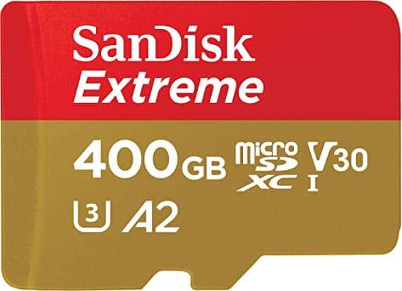 כרטיס זיכרון ענק ומהיר – SanDisk Extreme 400GB – מתחת לרף המכס!