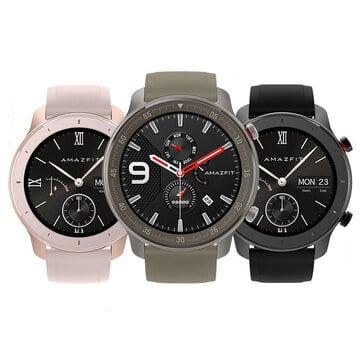 """מחיר נדיר!!! Amazfit GTR 42MM – השעון החכם הכי יפה והכי משתלם – שגם תומך בעברית! רק ב$103.64 / 355 ש""""ח כולל משלוח וביטוח מכס!"""