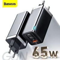 Baseus 65W GaN Charger – מטען Quick Charge 4.0 וUSB-C PD 65W + כבל USB-C 100W במתנה! רק ב$26.32!