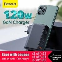מטען חחחחחזק! Baseus 120W GaN USB Charger עם תמיכה בהטענת מחשבים (אפילו 2!), טאבלטים ועוד בשלל טכנולוגיות הטענה מהירה – QC4.0 QC3.0 PD3.0 רק ב$36.71