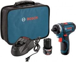 """מברגת כיס Bosch PS21-2A 12V כולל שתי סוללות ותיק נשיאה ב כ 449 ש""""ח"""
