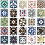 US $0.86 35% OFF 15pcs/set 8/12/15cm Europe Style Floor Tiles Diagonal Wall Stickers Bathroom Kitchen Waist Line Art Mural Tile Vinyl Wall Decals Wall Stickers 