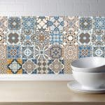 US $0.98 24% OFF Arabic Retro Tile Stickers For Kitchen Bathroom PVC Self Adhesive Wall Stickers Living Room DIY Decor Wallpaper Waterproof Wall Stickers 