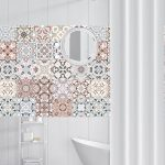 US $0.98 24% OFF Arabic Style Mosaic Tile Stickers For Living Room Kitchen Retro 3D Waterproof Mural Decal Bathroom Decor DIY Adhesive Wallpaper Wall Stickers 