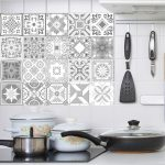 US $0.98 24% OFF Decorative Retro Moroccan Tiles PVC Tile Stickers,Grey color Wall Art Decal,Adhesive Waterproof Kitchen Backsplash Bathroom Deco Wall Stickers 