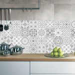 US $1.07 29% OFF 10/15/20/30cm Retro Pattern Tile Floor Sticker PVC Bathroom Kitchen Waterproof Wall Stickers Home Decor TV Sofa Wall Art Mural Wall Stickers 