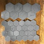 US $13.88 36% OFF Hexagon concrete tiles molds silicone cement brick wall molds TV background tiles mold Cake Molds 