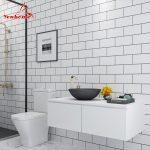 US $16.45 36% OFF 5M Modern Kitchen Tile Sticker Bathroom Waterproof Self adhesive Wallpaper Living Room Bedroom Vinyl PVC Home Decor Wall Sticker Wall Stickers 