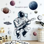 US $2.82 47% OFF Space Astronaut Wall Stickers for Kids Room Boy Room Decoration Planets Wall Decals Decorative Stickers Bedroom Mural Wallpaper Wall Stickers 