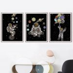 US $3.02 45% OFF Space Man Planet Astronaut Star Abstract Wall Art Canvas Painting Nordic Posters And Prints Wall Pictures For Living Room Decor Painting & Calligraphy 