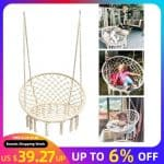 US $39.27 19% OFF Round Hammock Chair Outdoor Indoor Dormitory Bedroom Yard For Child Adult Swinging Hanging Single Safety Chair Hammock Hammocks 