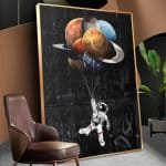 US $4.52 56% OFF WANGART Astronaut Space Dreaming Stars Limit Oil Painting Canvas Wall Pictures for Living Room Posters and Prints Home Decor Painting & Calligraphy 
