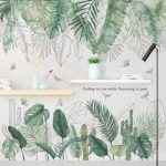 US $5.39 42% OFF 29 Kinds Big Green Leaves Wall Stickers for Living Room Bedroom Dining Room Decoration Wall Decals Poster Murals Baby Nursery Wall Stickers 
