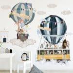 US $5.65 33% OFF Hot air balloon Cartoon Wall Stickers for Living room Nursery Kids rooms Decor Vinyl Wall Decals for Baby room Home Decoration Wall Stickers 