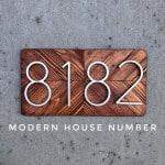 US $5.68 32% OFF 127mm Big House Number Huisnummer Hotel Home Door Number Outdoor Address Numbers for House Numeros Puerta de la casa hausnummer Door Plates 