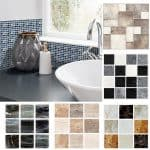 US $6.3 33% OFF Funlife 10*10cm*18pcs Mosaic Self Adhesive Waterproof DIY Wall Art Home Bedroom Bathroom kitchen Tile Sticker Wall Sticker Wall Stickers 