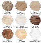 US $7.24 37% OFF Funlife 10 Pcs Whitewood Beech Maple Oak Walnut Hickory Texture Hexagon Ground Stickers Waterproof Self Adhesive Wall Sticker DB Wall Stickers 